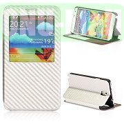 Woven Texture Caller ID Display Window Pure Color Flip Case Cover for Samsung Galaxy Note3 N9000 (White)