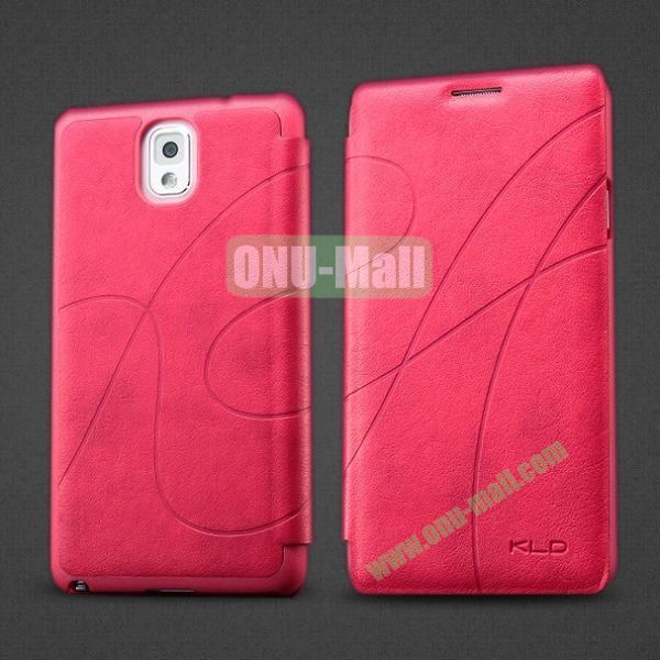 KLD Oscar II Series Flip Stand Leather Case with Card Slots for Samsung Galaxy Note 3 N9005 N9000 N9002 (Rose)