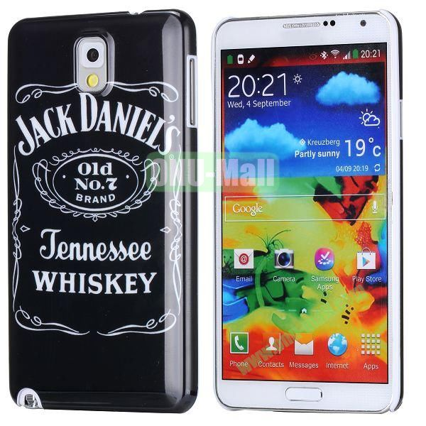 PC Hard Case For Samsung Galaxy Note 3 N9000 (Jack Daniel's Words Pattern)
