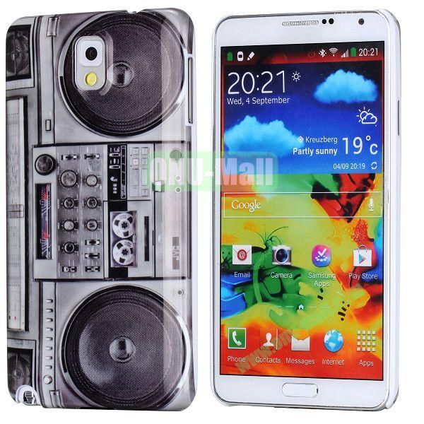 PC Hard Case For Samsung Galaxy Note 3 N9000 (Retro Style Radio Pattern)