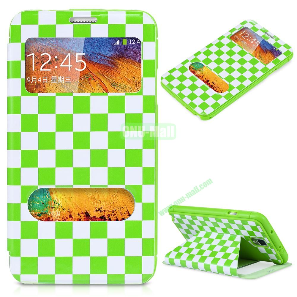 Ultrathin Checker Grid Pattern Case for Samsung Galaxy Note 3 N9000 (Blue)