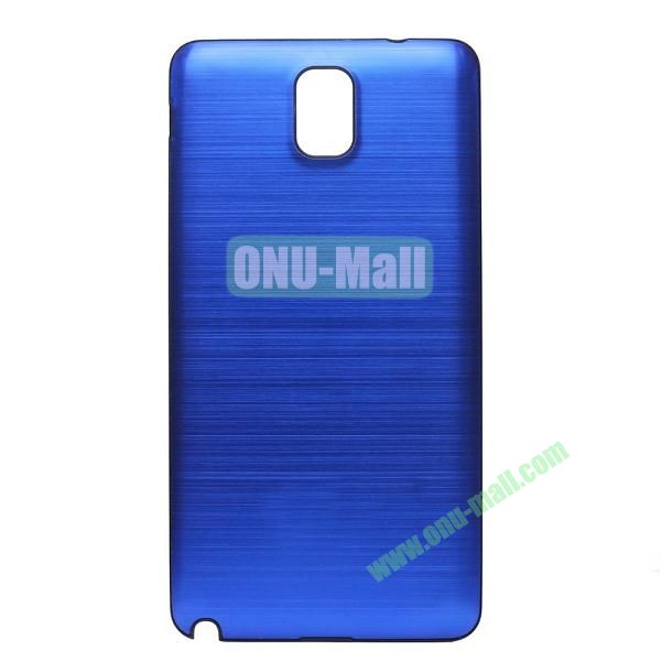 Brushed Metal Design Battery Back Cover Case For Samsung Galaxy Note 3 N9000 (Blue)
