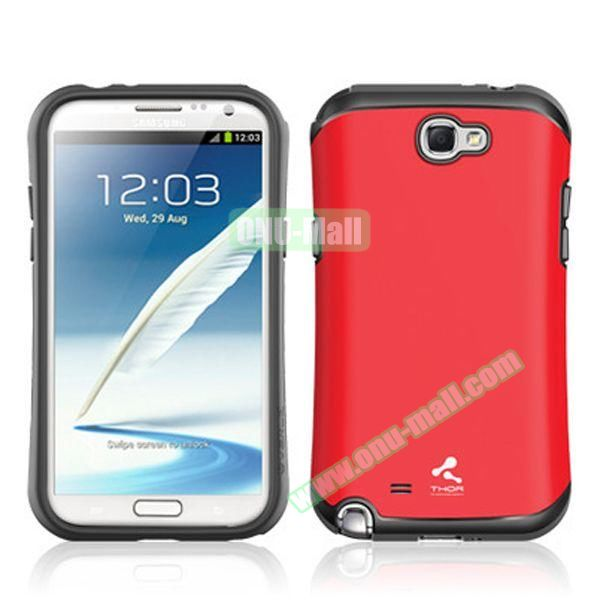 Korea VERUS THOR Armor Hybrid Case for Samsung Galaxy Note 2 (Red)
