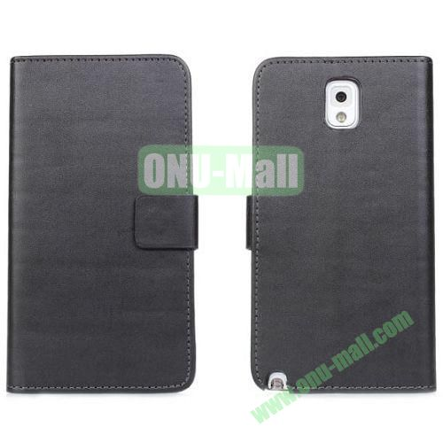 PU Material Wallet Leather Case for Samsung Galaxy Note 3N9000 with Crad Slots and Holder (Black)