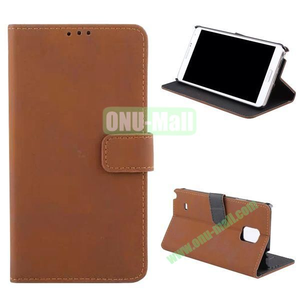 Retro Frosted Flip Stand Leather Case for Samsung Galaxy Note 4 N910 (Brown)