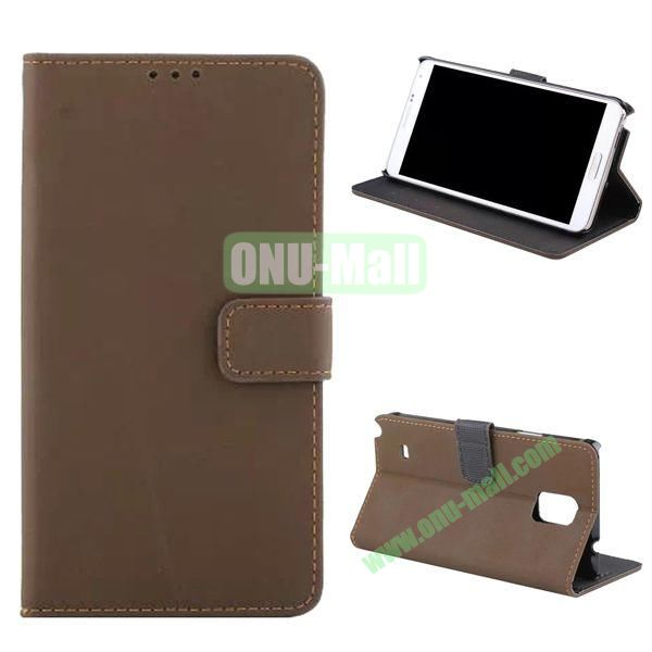 Retro Frosted Flip Stand Leather Case for Samsung Galaxy Note 4 N910 (Coffee)