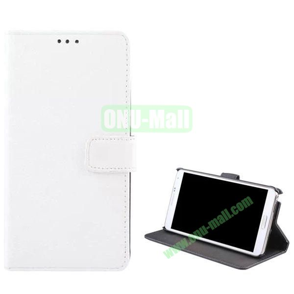 Litchi Texture Flip Stand Leather Case for Samsung Galaxy Note 4 (White)