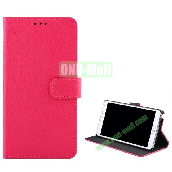 Litchi Texture Flip Stand Leather Case for Samsung Galaxy Note 4 (Rose)