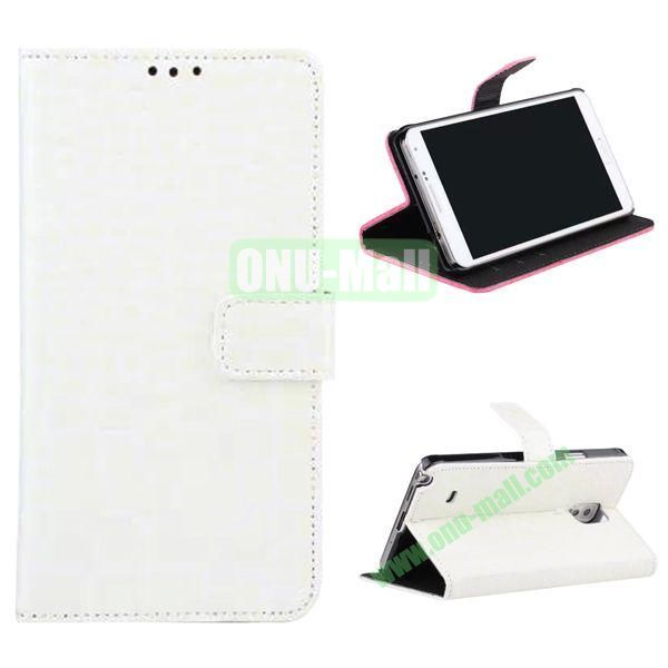 Crocodile Pattern Flip Stand Leather Case for Samsung Galaxy Note 4 with Card Slots (White)