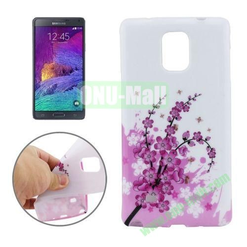 New 3D Effect Personality Design TPU Case for Samsung Galaxy Note 4 (Plum Blossom)