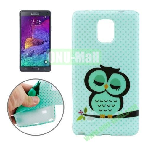 New 3D Effect Personality Design TPU Case for Samsung Galaxy Note 4 (Sleeping Owl)