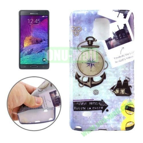 New 3D Effect Personality Design TPU Case for Samsung Galaxy Note 4 (Anchor Pattern)