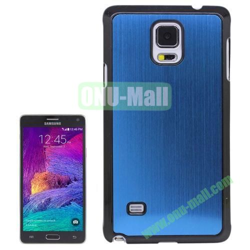 Metal Brushed Texture Hard Plastic Case for Samsung Galaxy Note 4 (Blue)