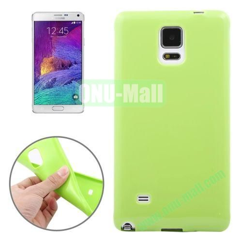 Smooth Surface TPU Case for Samsung Galaxy Note 4 (Green)