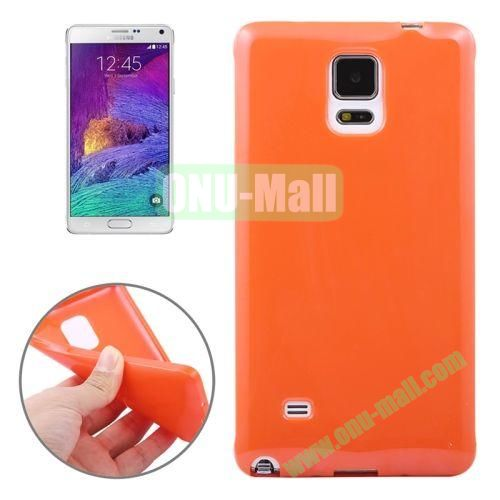 Smooth Surface TPU Case for Samsung Galaxy Note 4 (Orange)