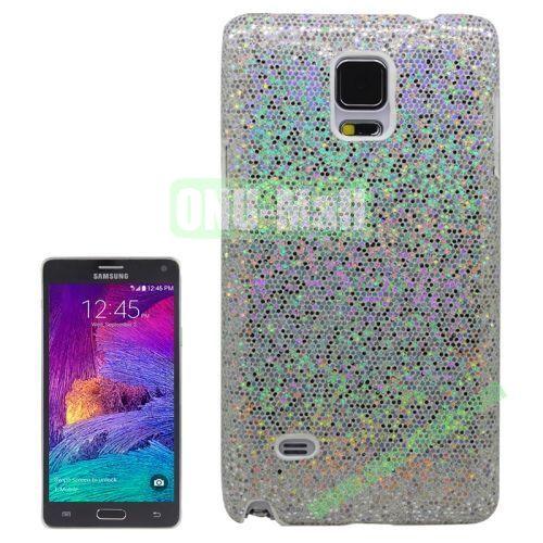 Glitter Powder Skinning Hard Plastic Case for Samsung Galaxy Note 4 (White)