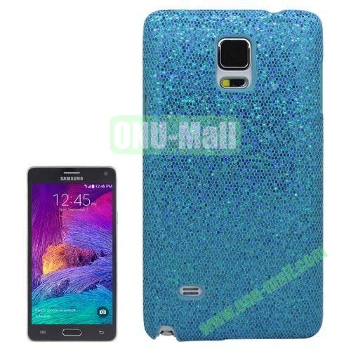 Glitter Powder Skinning Hard Plastic Case for Samsung Galaxy Note 4 (Light Blue)