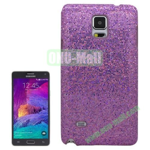 Glitter Powder Skinning Hard Plastic Case for Samsung Galaxy Note 4 (Purple)