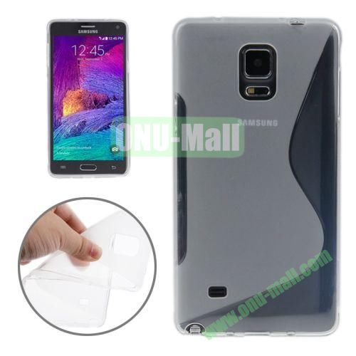 Anti-skid Frosted S Shape Soft TPU Case for Samsung Galaxy Note 4 (Transparent)