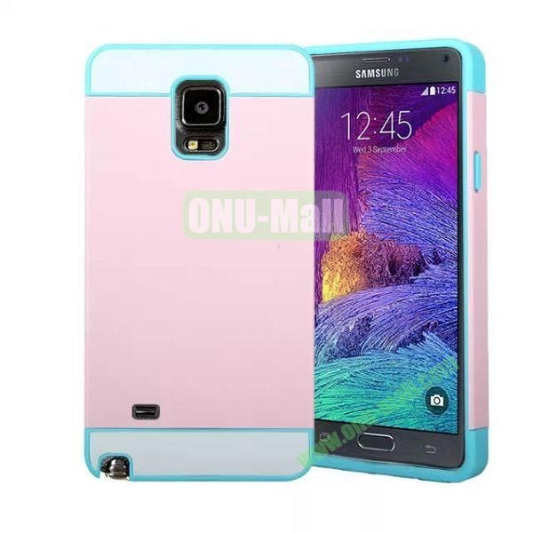 Mix Color PC Hard Case for Samsung Galaxy Note 4 (Light Pink)