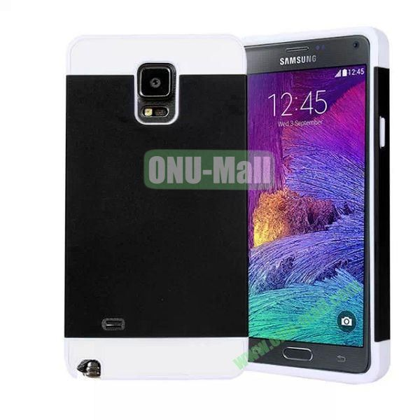 Mix Color PC Hard Case for Samsung Galaxy Note 4 (Black+White Frame)