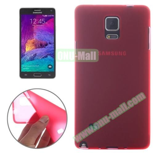 Double Frosted Soft TPU Case for Samsung Galaxy Note 4 (Red)