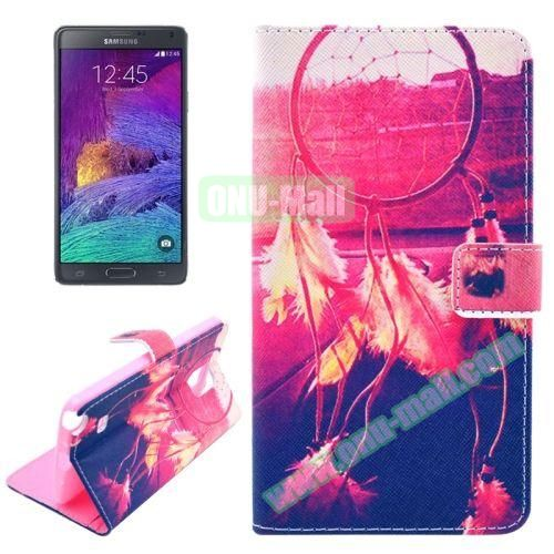 Wallet Style TPU and PU Leather Case for Samsung Galaxy Note 4 N910 (Special Ring)