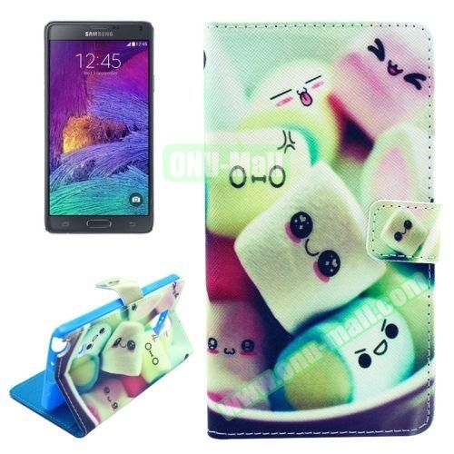 Wallet Style TPU and PU Leather Case for Samsung Galaxy Note 4 N910 (Smiling Face)