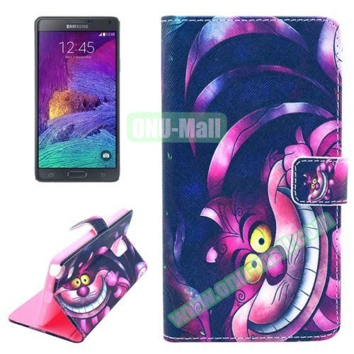 Wallet Style TPU and PU Leather Case for Samsung Galaxy Note 4 N910 (Cartoon Animal)