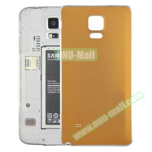 Replacement Frosted Back Cover for Samsung Galaxy Note 4 (Orange)