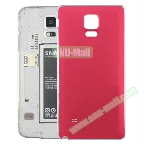 Replacement Frosted Back Cover for Samsung Galaxy Note 4 (Red)