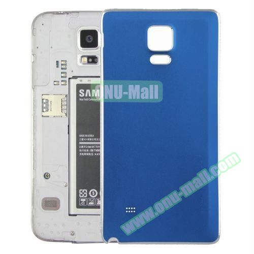 Replacement Frosted Back Cover for Samsung Galaxy Note 4 (Blue)