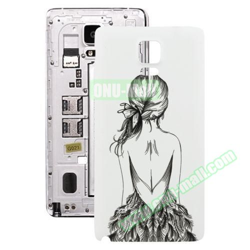 Personalized Design 3D Printing Back Cover Replacement for Samsung Galaxy Note 4 (Quiet Girl)