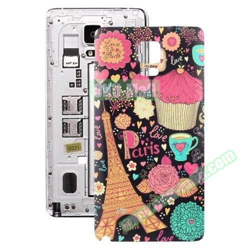 Personalized Design 3D Printing Back Cover Replacement for Samsung Galaxy Note 4 (Cartton Tower)