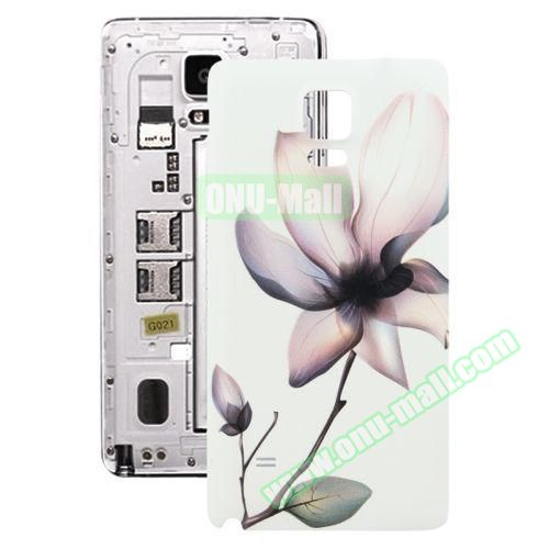 Personalized Design 3D Printing Back Cover Replacement for Samsung Galaxy Note 4 (Ink Flower)