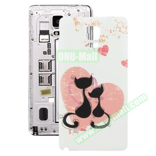 Personalized Design 3D Printing Back Cover Replacement for Samsung Galaxy Note 4 (Cat Couple)