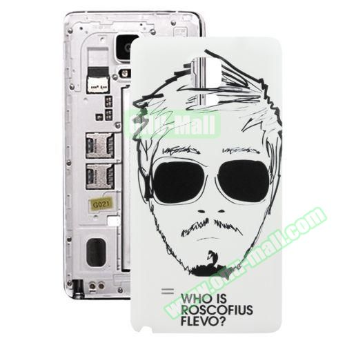Personalized Design 3D Printing Back Cover Replacement for Samsung Galaxy Note 4 (Cool Man)