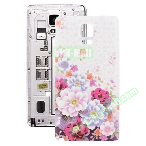 Personalized Design 3D Printing Back Cover Replacement for Samsung Galaxy Note 4 (Colorful Flowers)