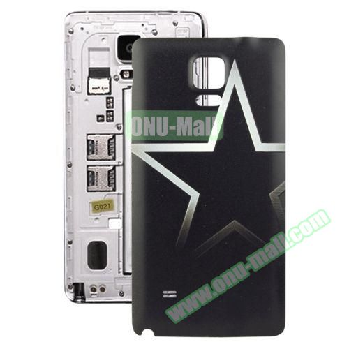 Personalized Design 3D Printing Back Cover Replacement for Samsung Galaxy Note 4 (Star Pattern)