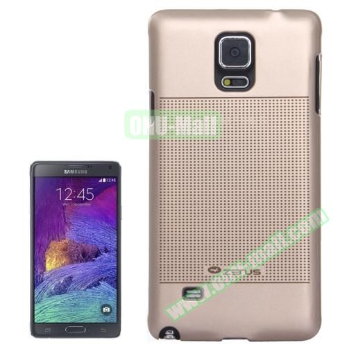 Personalized Gold Hard Back Cover for Samsung Galaxy Note 4 (Dot Matrix)