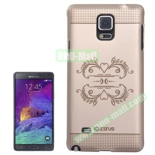 Personalized Gold Hard Back Cover for Samsung Galaxy Note 4 (European Pattern)
