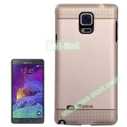 Personalized Gold Hard Back Cover for Samsung Galaxy Note 4 (Both Ends Dot)