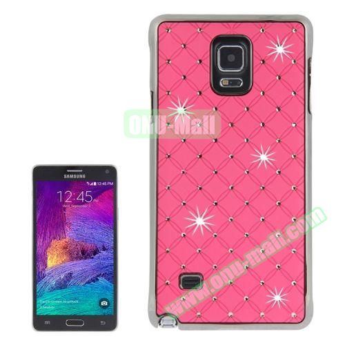 Bling Diamond Stars Skinning Plastic Case for Samsung Galaxy Note 4 (Pink)