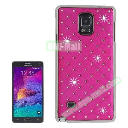 Bling Diamond Stars Skinning Plastic Case for Samsung Galaxy Note 4 (Rose)