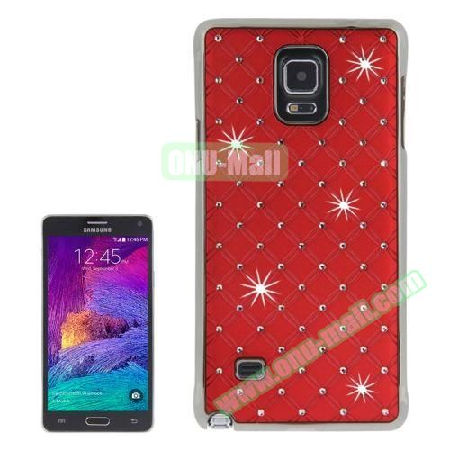 Bling Diamond Stars Skinning Plastic Case for Samsung Galaxy Note 4 (Red)