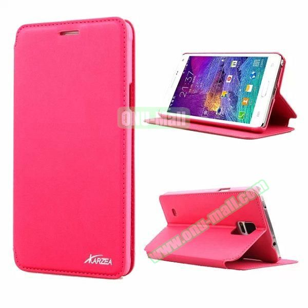 Retro Style Flip Stand Leather Case for Samsung Galaxy Note 4 N9100 (Rose)