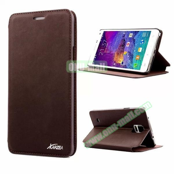 Retro Style Flip Stand Leather Case for Samsung Galaxy Note 4 N9100 (Coffee)