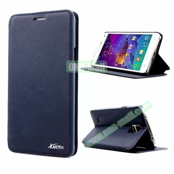 Retro Style Flip Stand Leather Case for Samsung Galaxy Note 4 N9100 (Blue)