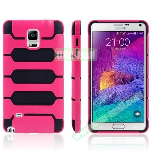 Tank Series PC + TPU Bumper Combination Case for Samsung Galaxy Note 4 (Rose)