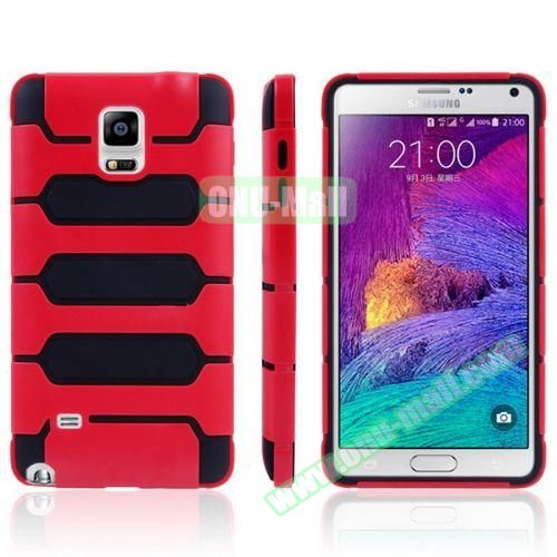 Tank Series PC + TPU Bumper Combination Case for Samsung Galaxy Note 4 (Red)